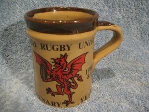 WELSH RUGBY UNION CENTENARY MUG 1981 ~ BY THE WELSH BEAKER COMPANY