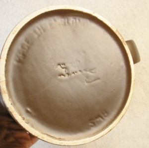 A vintage AWS teapot. Back stamp view.