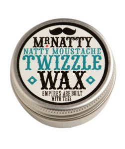 MR NATTY'S MOUSTACHE TWIZZLE WAX 10 ml. Made in England.