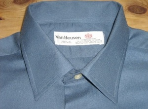 Van Heusen shirt. Made in England. Sadly Van Heusen no longer manufacture or sell shirts in the UK.