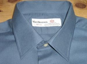 Van Heusen shirt. Made in England. Sadly Van Heusen no longer manufacture or sell shirts in the UK.