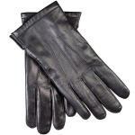 John Lewis Premium Silk Lined Leather Gloves, Made in England.