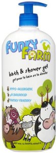 Bayliss and Harding Funky Farm bath and shower gel. Made in the UK.