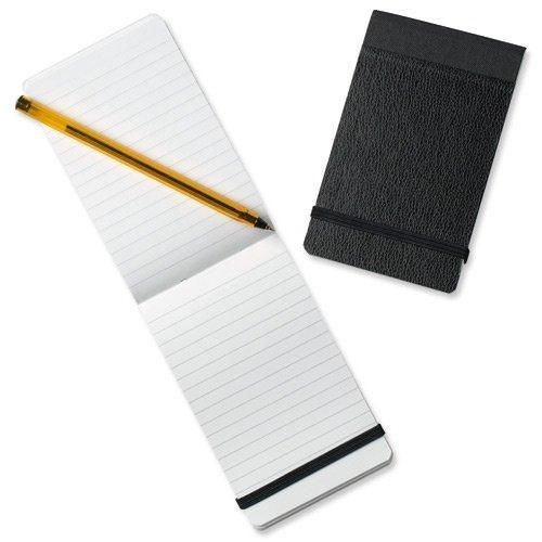 "Silvine 'Police' Pocket Notebook. Elasticated strap. Stiff Cover. 160pp, 75gsm paper, 82x127mm / 3.25""x5"". Made in the UK."