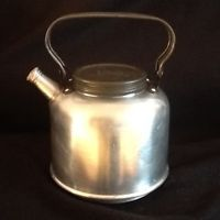 A vintage British made Sirram camping kettle