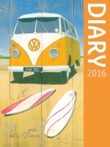 Salmon Campervans Diary 2016. 5ʺ x 3 3/4ʺ (127mm x 95mm). Week to a page. Sunday start. Plastic cover.
