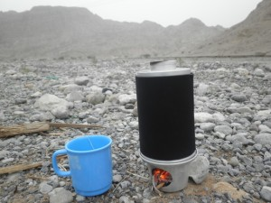 2011 an mKettle being used in the Wadi Bih Desert at the Oman and UAE border.