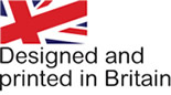 Designed and printed in Britain logo, from the J Salmon website