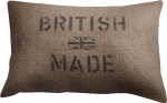 British Made jute cushion. Barbara Coupe. £45.95