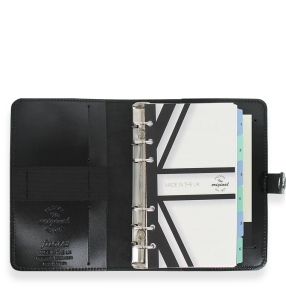 Filofax Original Patent Personal Organiser in black. Made in the UK