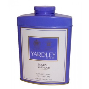 Yardley English Lavender Talc. Made in England.