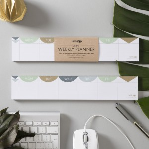 Lollipop Designs mini 'keyboard' weekly planner. Printed in England.