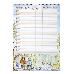 2016 National Trust Family Organiser. Made in the UK. I like the simple innovative use of colums in this calendar.