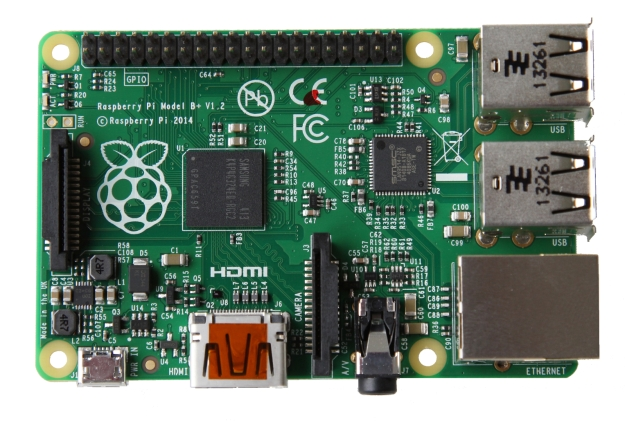 Raspberry Pi B+. Made in the UK
