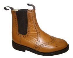 NPS - Brogue Dealer Boot (Tan). Made in England