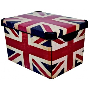 Union Jack plastic box by Curver. Made in the UK.