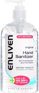 Enliven Hand Sanitizer Original 500ml. Made in England.
