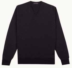 John Smedley jumper - Bobby in black. Made in Great Britain