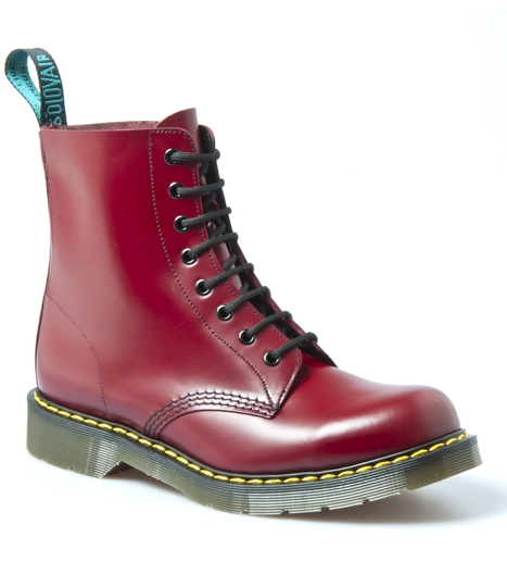 Original '8 Eye Cherry Red' Boot - The iconic British Made Solovair 8 eyelet boot.