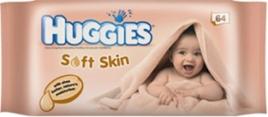Huggies Soft Skin wipes. Made in the UK.