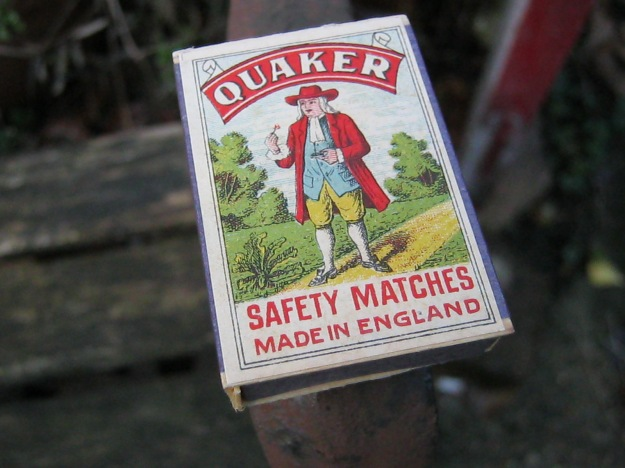 Vintage Quaker Safety Matches. Made in England