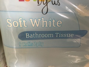 Co-op Soft White Bathroom Tissue. Made in the UK. Photograph by author.