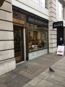 John Rushton shoe shop in Wimpole Street in London 23/11/16. Photograph by author.