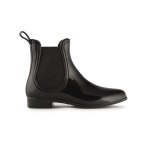 JUJU Chelsea Wellie Shoe in Black.  Made in England