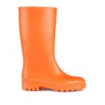 JUJU Vintage Hi-Vis Orange wellies.  Made in England.