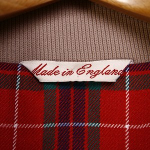 A Made in England label