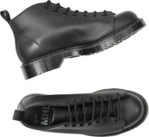 Margaret Howell MONKEY BOOT HEAVY LEATHER BLACK. 100% LEATHER UPPER. MADE IN ENGLAND.