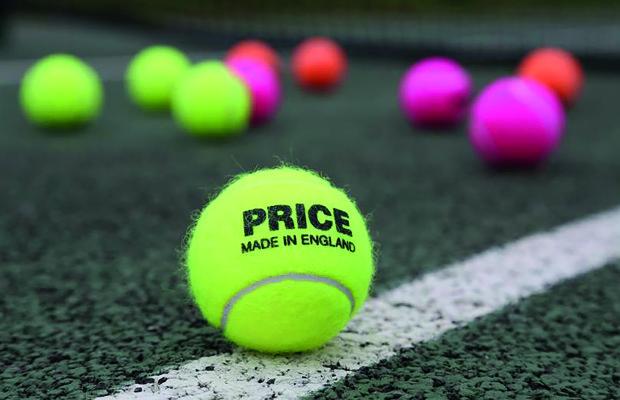 J Price made in England tennis balls