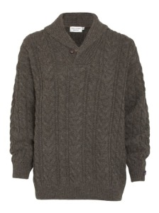 JAMES AUBRAY BRITISH WOOL SHAWL PULLOVER