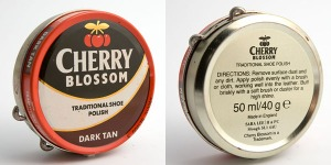 Cheery Blossom. This product would have been made in the brief 1991 to 1994 period that Sara Lee held the brand name and made in 1992-94 at the Yorkshire-based K&M Candles factory on the same lines that Kiwi shoe polish was made.