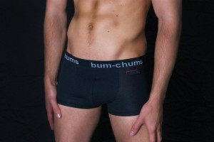 bum-chums Black Cotton Hipster. Made in the UK.