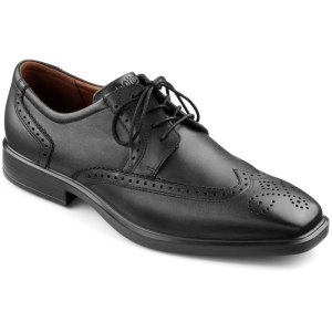 Hotter TOWN SHOE BLACK.  Made in England