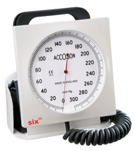 Accoson Code 0632A Desk model sphygmomanometer. Made in England.