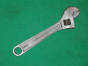 VINTAGE GARRINGTONS Made in England JACKDAW 6 INCH ADJUSTABLE SPANNER (view 1)