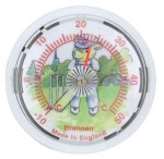 Brannan White Dial Fridge Magnet Thermometer 65mm - Cricket Bear.  Made in England.
