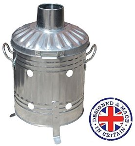 Mini Garden 15 Litre Galvanised Metal Incinerator. Made in Britain.