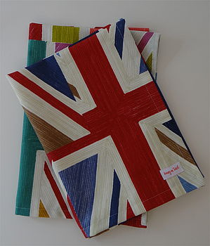 Union Jack Tea Towelby Honey on Toast.   Made in Britain.  @notonthehighstreet.com