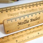 Personalised Engraved Wooden School Ruler by Cleancut Wood.  Made in Britain.  @notonthehighstreet.com