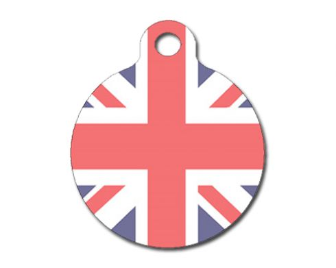 PS Pet Tags Union Jack tag. Made in the UK.