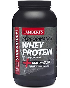 Lamberts Strawberry Whey Protein. Manufactured in the UK.