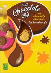Sainsbury's Milk Chocolate Easter Egg with Chocolate Caramels 155g