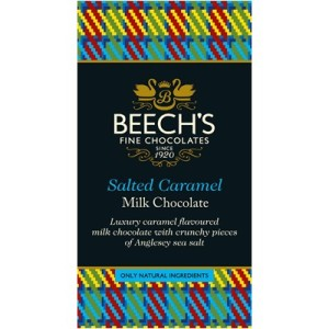 Beech's Milk Chocolate Salted Caramel Bar 60g. Made in England.