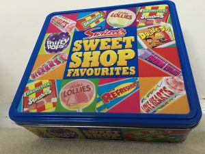 Swizzels Sweet Shop Favourites tin. Made in the UK.