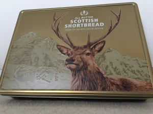 Tesco All Butter Scottish Shortbread tin. Produced in the UK.