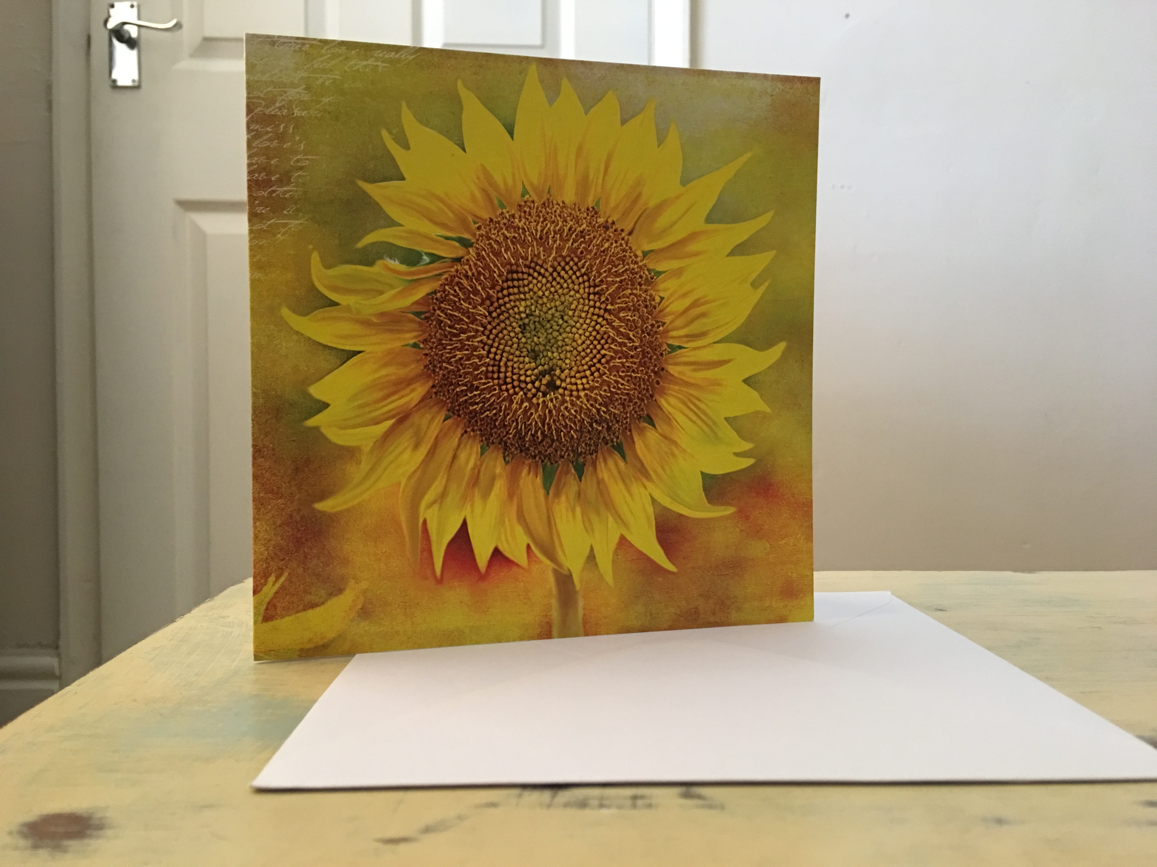Greetings cards birthday cards christmas cards blank cards the almanac gallery gaia golden sunflower greetings card by the great british card company printed in the uk photograph by authro 29 june 2017 kristyandbryce Gallery