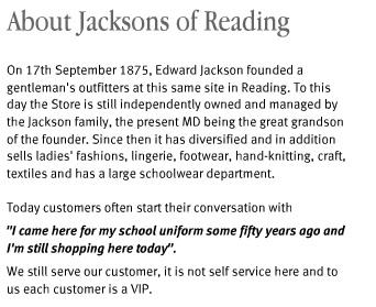 Jacksons History